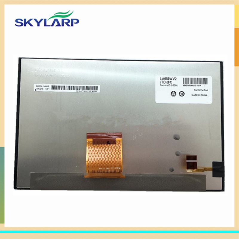 где купить skylarpu 8 inch Car GPS LCD screen for LA080WV2(TD)(01) LA080WV2-TD01 display panel (without touch) по лучшей цене