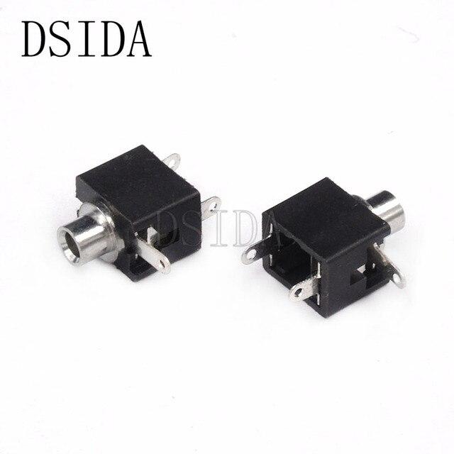 10 Uds conector de Audio hembra de 3,5mm de alta calidad conector DIP de 3 pines conector jack de auriculares monocanal PJ-301M enchufe macho PJ301M 3,5mm