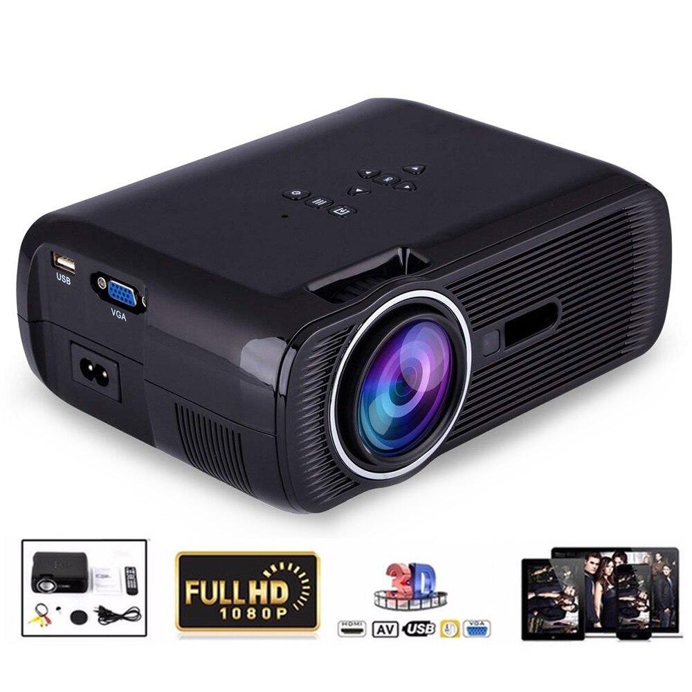 Intelligente Mini Proiettore 2000 Lumen 1080 p Full HD HA CONDOTTO il Proiettore Home Theater Cinema HDMI VGA USB home theater 5.1 video Proiettore