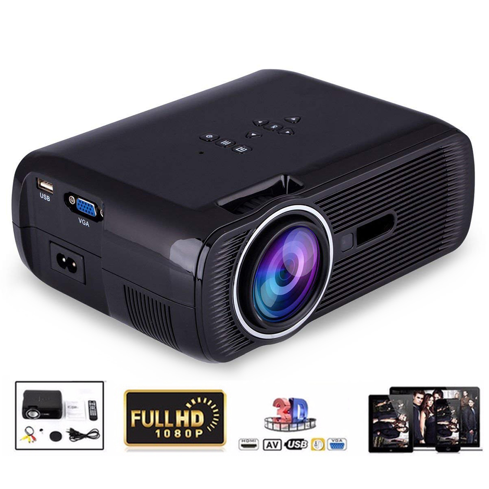 Smart Mini Projector 2000 Lumens 1080P Full HD LED Projector Home Theater Cinema HDMI VGA USB home theater 5.1 Video Projector 3d конструктор green planet голова снежного барана кв синий