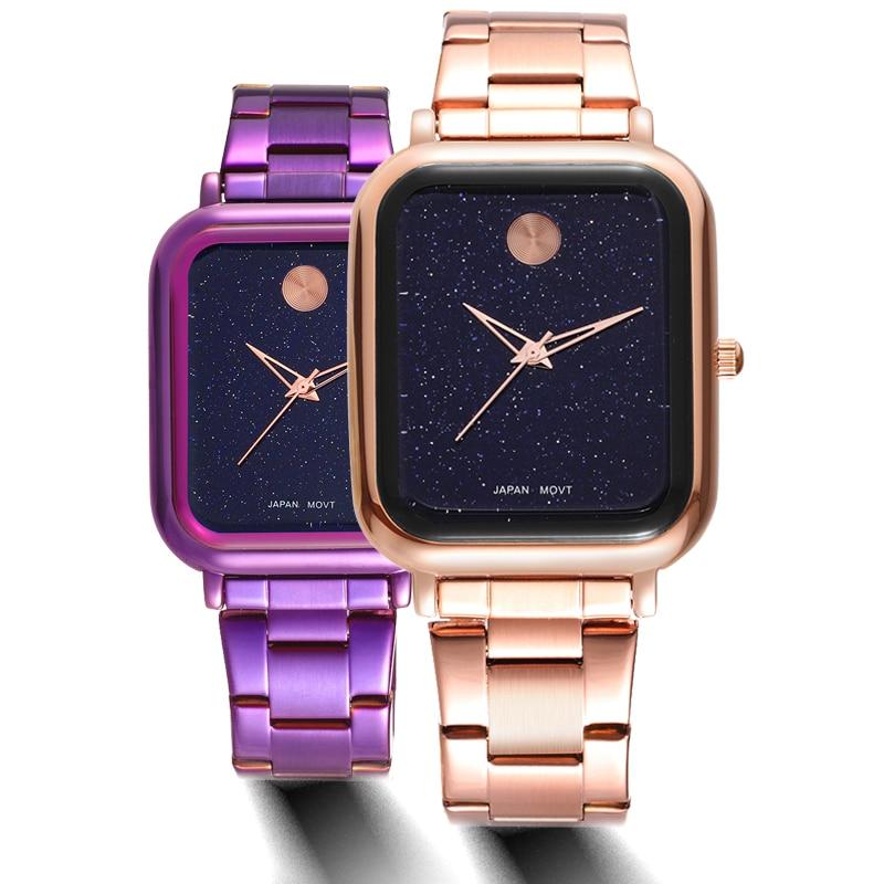Quartz Brand Lady Watches Women Luxury Rose Gold Antique Square stainless steel Dress Wrist watch Relogio Feminino Montre 2018