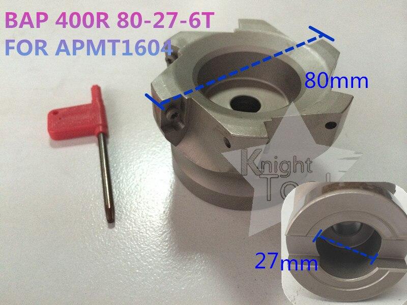 BAP 400R 80-27-6T  BAP Right Angle Shoulder Face Mill APMT1604 Inserts mitsubishi 100% mds r v1 80 mds r v1 80