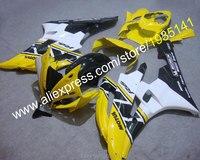 ขายร้อนสีดำสีเหลืองสีขาวชิ้นส่วนสำหรับYamaha YZF R6 F Airing 06 07 YZFR6 YZF-R6 2006 2007รถจักรยานยนต์F Airing (ฉีด)