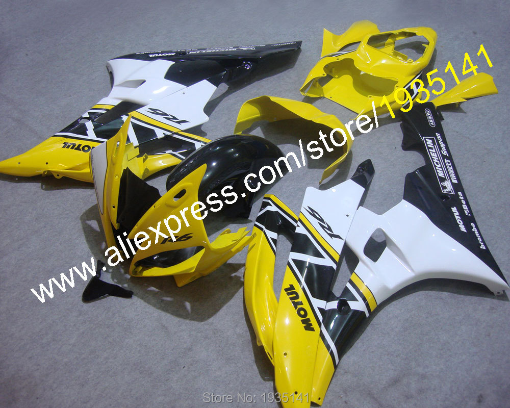 Hot Sales,Black yellow white parts For Yamaha Fairing YZF R6 06 07 YZFR6 YZF-R6 2006 2007 Motorcycle Fairing (Injection molding) hot sales for bmw k1200s parts 2005 2006 2007 2008 k1200 s 05 06 07 08 k 1200s yellow bodyworks aftermarket motorcycle fairing