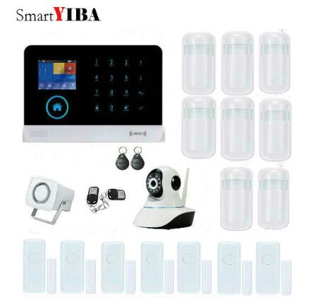 SmartYIBA Multi Language Wireless WIFI 3G Smart Home Alarm System Infrared Motion Detector Camera Surveillance with APP Control