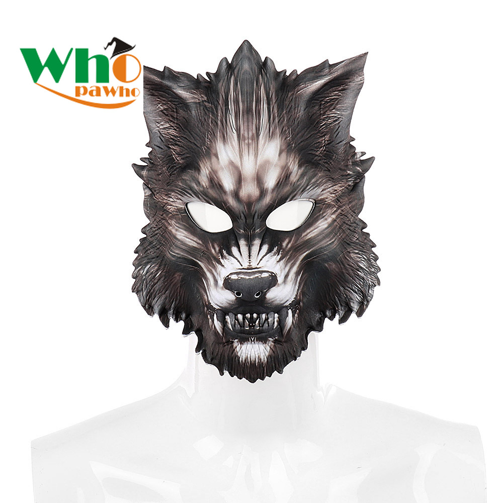 Halloween Carnival Party Make-up Ball Adult Masks EVA Face Animal Wolf Mask
