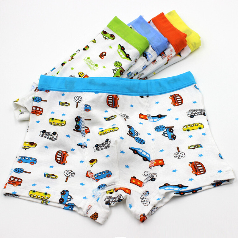 5pcs/lot Boys Boxer Kids Underwear Boy Underpants Boxer Modal Soft Children Underwear 2-10years