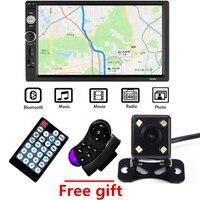 2 Din Car Radio 7 HD Autoradio Multimedia Player 2DIN Touch Screen Auto Audio Car Stereo MP5 Bluetooth TF FM Camera Radio Car