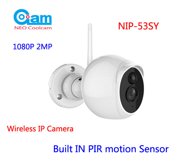 NEO COOLCAM NIP-53SY Outdoor Wifi IP Camera Waterproof Full HD 1080P 2MP 3.6mm lens, Built IN PIR motion Sensor Support TF Card