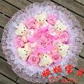 New Creative Teddy Bear Cartoon Bouquet Teddy Bear and Roses Bouquet.Best Price, Best Quality. Free Shipping
