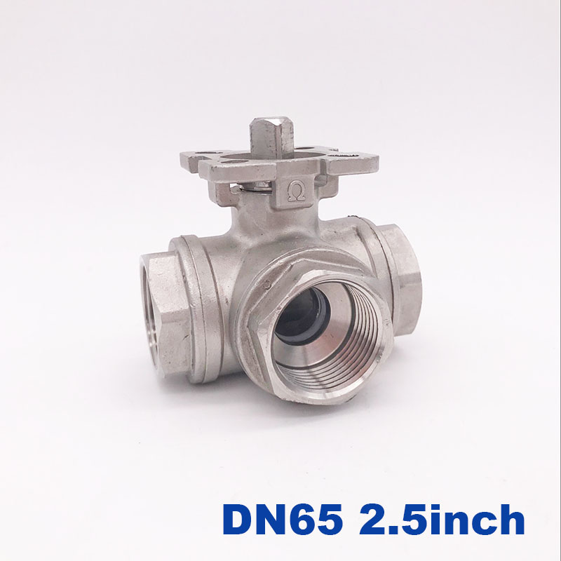 High quality stainless steel high platform ball valve 2 1 2 inch DN65 SS304 L type