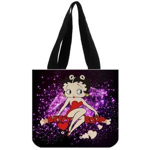 Image 5 - Tote Bag Katoenen Canvas Custom Betty Boop Winkelen Opvouwbare Herbruikbare Schouder Aangepast Met Eigen Logo Groothandel
