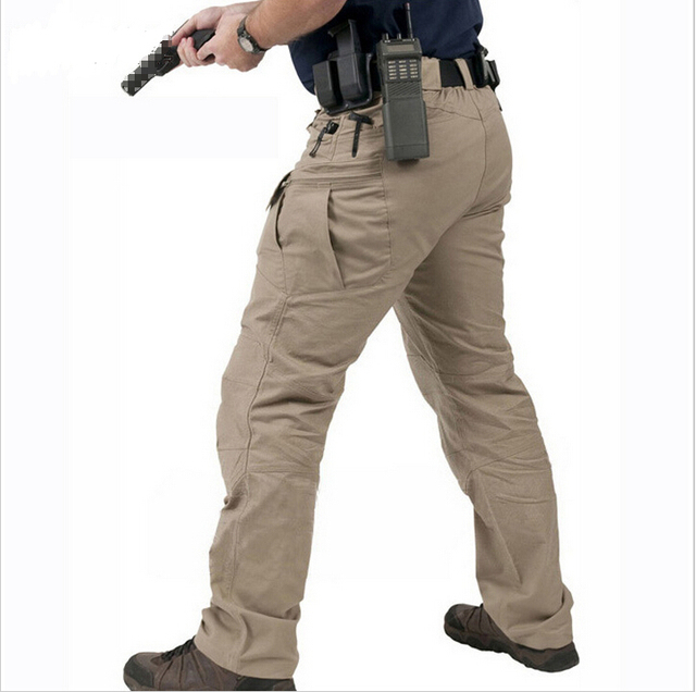 Casual Tácticos Cargo Hombres Bolsillos Pantalones Swat Multi OP80wnk