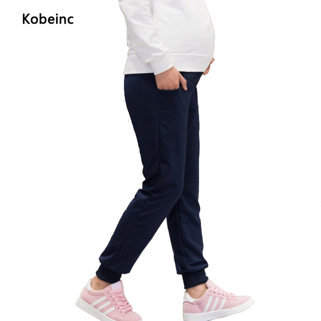 Fashion Plus Size Maternity Pants Solid Color Elastic Care Belly Sports Trousers For Pregnant Women 2017 Spring Pantalones Mujer