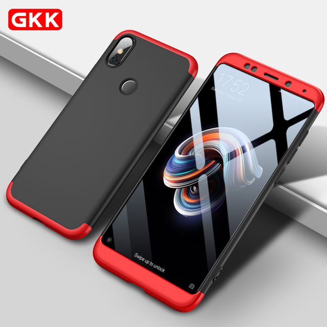 quality design 95738 ab6a1 US $4.28 |GKK Luxury Case For Xiaomi Redmi Note 5 Pro 360 Full Protection  Anti knock Three in One Ultra Thin Hard Case For Note5 Pro case-in Fitted  ...
