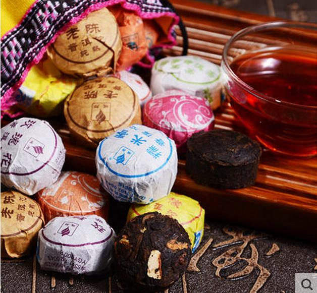 50pcs Different Flavors Chinese Yunnan Puer T.E.A Pu er Pu'er Bag For Health Care Mini Tuo Cha Infusers Puerh T.E.A Brew