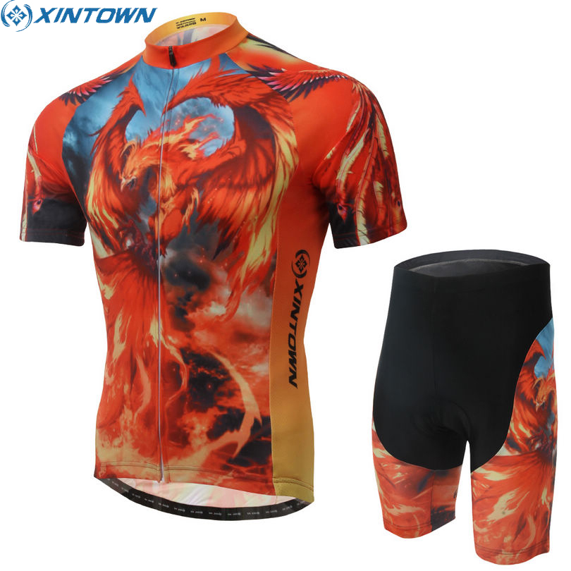 MTB Men/'s Cycling Jersey Bib Shorts Kits Short Sleeve Riding Shirt Shorts Set