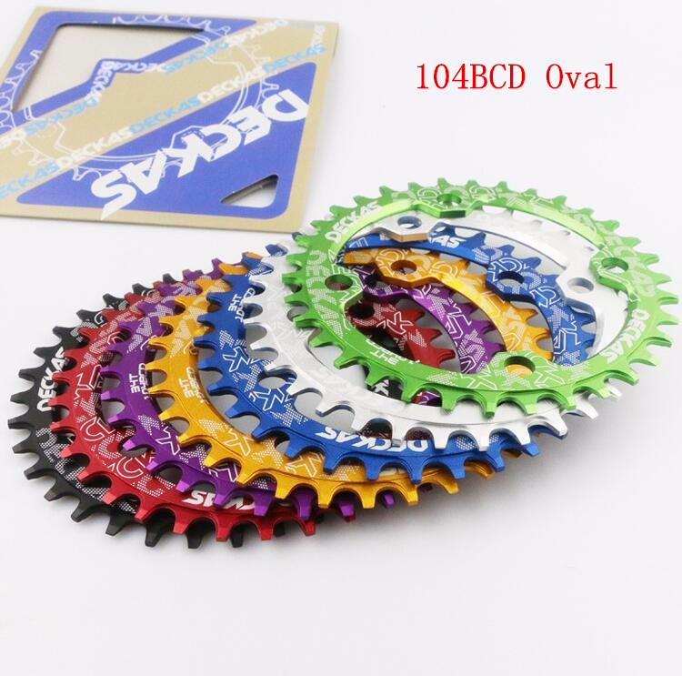 Deckas 104bcd Oval Chainring MTB Mountain bike bicycle chain ring BCD 104mm 32/34/36/38T Ultralight For shimano M615 crankset