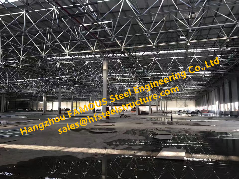 China Erector Responsible For Design And Build The Prefabricated High Strength Pipe Truss Structural Steel Workshop