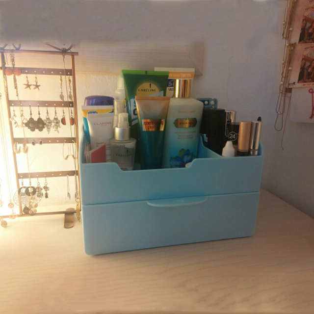 67a8ff22e925 US $37.89 |Butihome Big Size Plastic Makeup Storage Organizer Jewelry Box  Modern Washable With Drawer Cosmetic Table Container Strong Hold-in Storage  ...