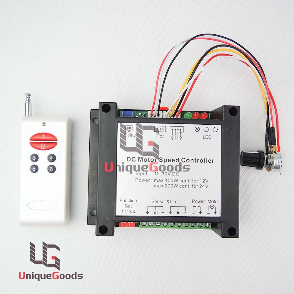Free Shipping 12V 24V 30V DC Motor Wireless Remote Controller Switch ...