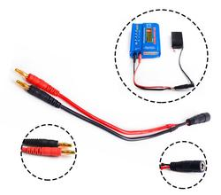 4.0mm banana head transfer Fatshark FPV video glasses battery connecting cable B6 Lipo balance charger charging line wire