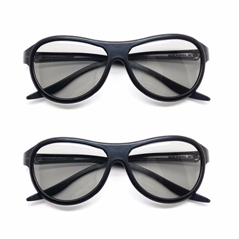 2pcs Replacement AG-F310 3D Glasses Polarized Passive Glasses For LG TCL Samsung SONY Konka Real 3D Cinema Currency