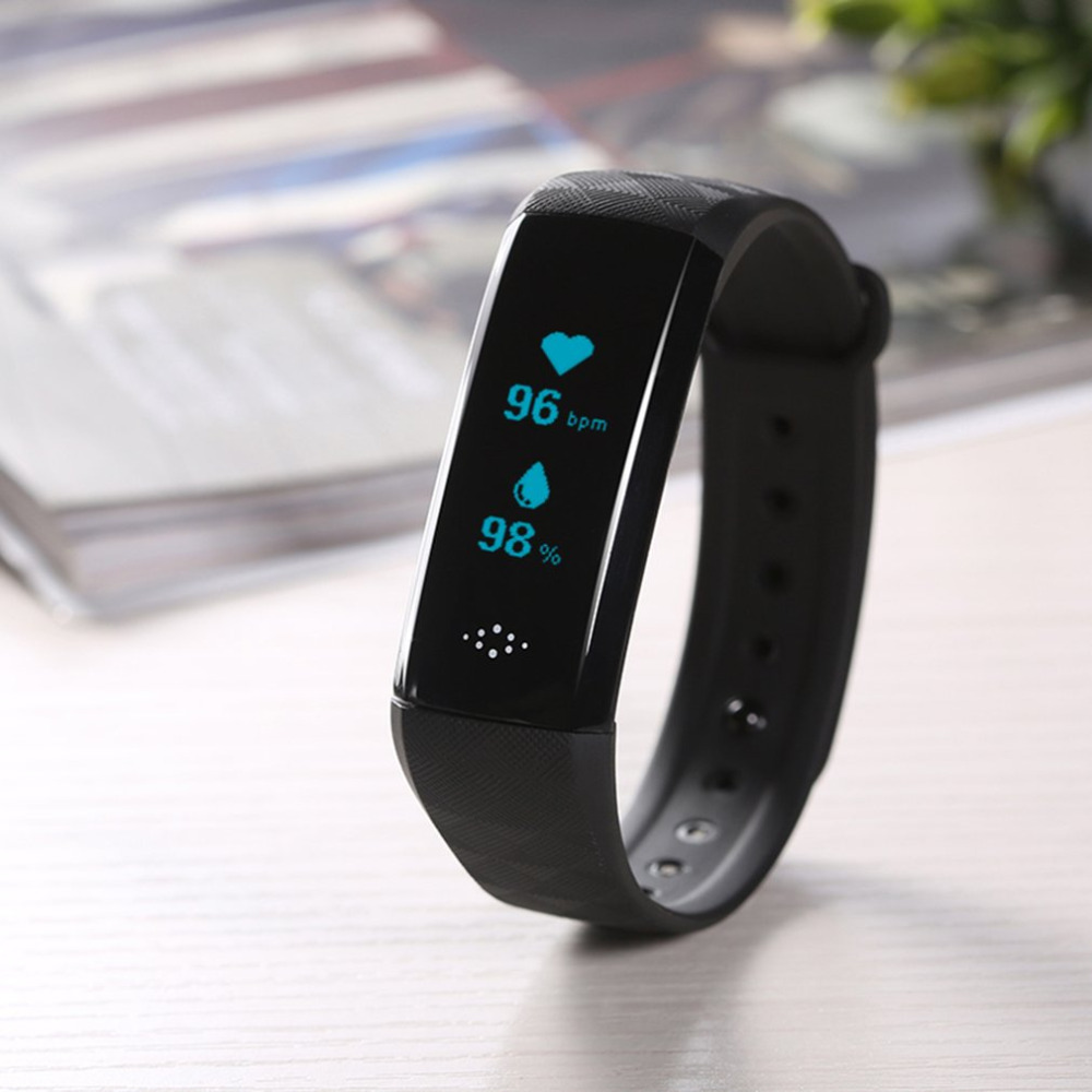 M2S Pedometers Sport Health Fitness Tracker Bracelet 0.96 Inch OLED Screen Heart Rate Monitor Sleep Monitor Smart Wristband