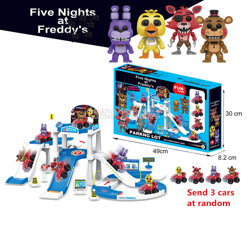FNAF Car Park Pull Back Car Five Nights At Freddy's Bonnie Foxy Freddy Fazbear Bear Night Freddy Toys Action Figure Kids Toy