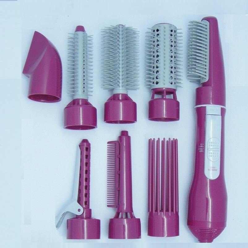 8 in 1 Hot Air Hair Styler 2 Speed / Cool Hair Dryer, Curling Irons, Hot Hair Comb / Brush cy may hair 8 10 12