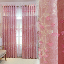 High-grade Italian cashmere luxury curtains living room embossed embroidered shelter gauze curtain corti NAS para Sala De Luxo