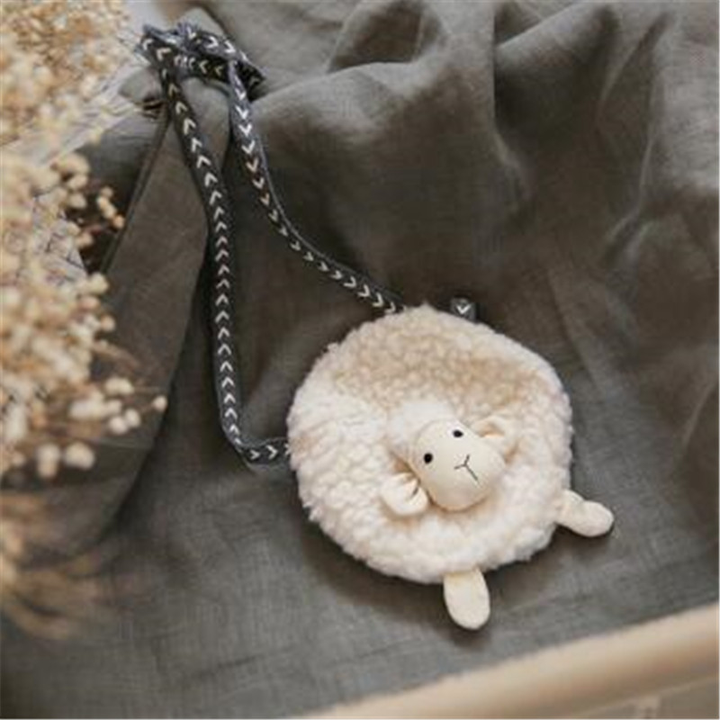 Korea Cute Fabric Goat Sheep Necklace Pendant Bag Baby Chain