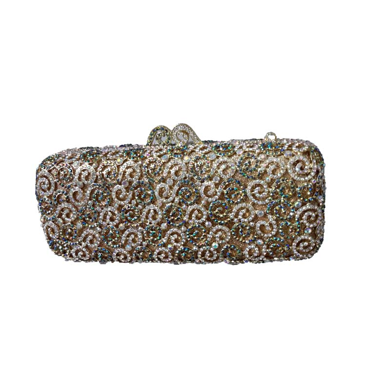 Luxury Africa Mini Clutch Purse and Evening Clutch Bags for Women Wedding Prom Dinner Party Crystal