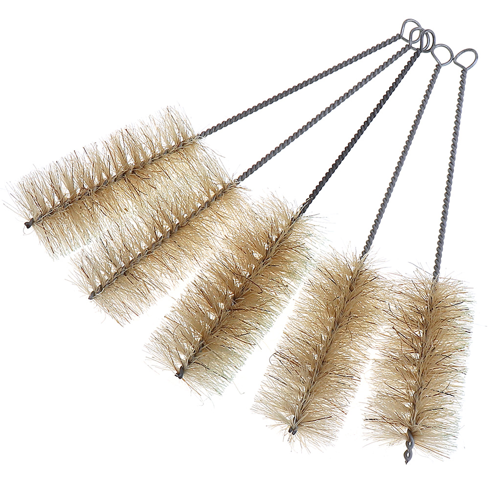 5pcs Industry Nylon Stainless Steel Pipe Brush with Handle for Clean / Remove Rust
