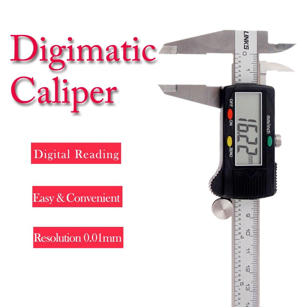 0-150mm 200mm 300mm LCD numérique pied à coulisse jauge micromètre outil de mesure échelle Laser mesure précise