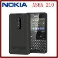 Оригинал Nokia Asha 210 Разблокирована GSM 2.4 ''Dual SIM Карты 2-МЕГАПИКСЕЛЬНАЯ QWERTY Клавиатура Английский Только Восстановленное Мобильного Телефона Бесплатная Доставка