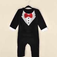 Children Rompers Jumpsuits Cloth Infant Newborn Boy Fashion-Design CL0746 Gentleman Leisure