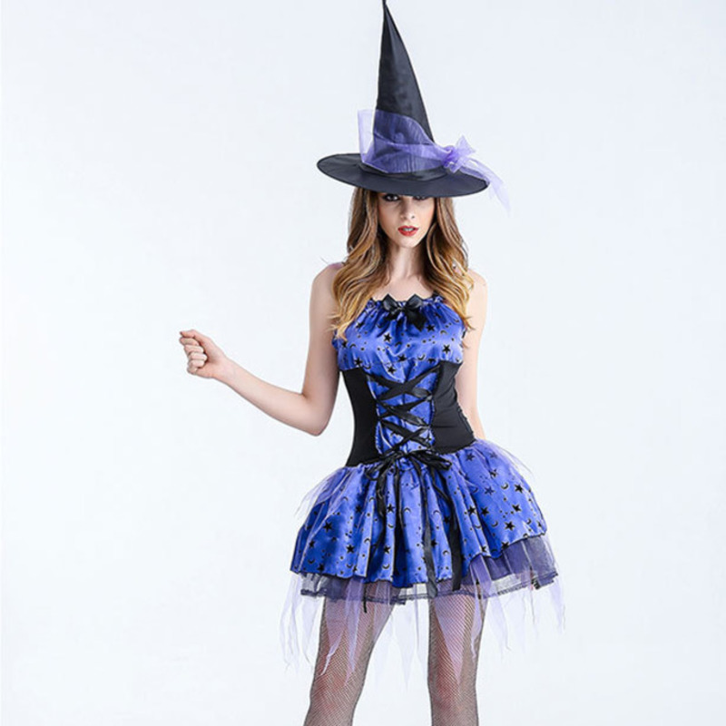 halloween costumes for women plus size vampire sexy costumes for adults black medieval comic witch costume women hat fancy dress