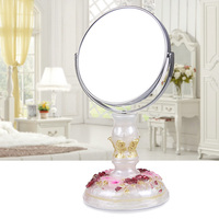 European Princess Makeup Mirror Simple Dressing Table 7 Inch High Definition Double Faced Mirror Beautiful Rural