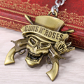 2015 Группа Guns N 'ROSES Музыка Ювелирный Бренд Мужчины Бронзовый и Серебряный Ключ цепи Кулон Брелки Скелет Сплава Рок Болельщики Любят Gn 'R