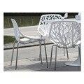 Мода мебель Металл и пластик обеденный стул, стул, полые стул, стул