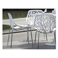 Fashion furniture Metal & plastic dining chair,waiting chair, hollow chair,mesh chair