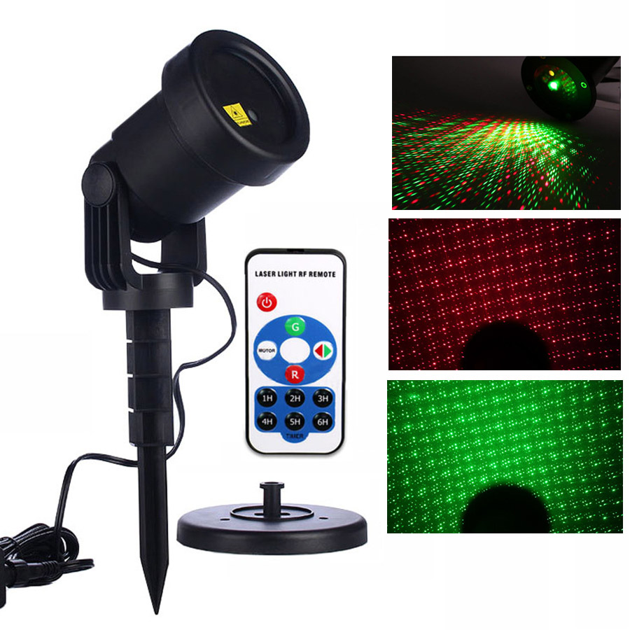 Thrisdar Moving Full Sky Star Outdoor Laser Projector Light Christmas Landscape Red Green Garden Laser Projector Lamp