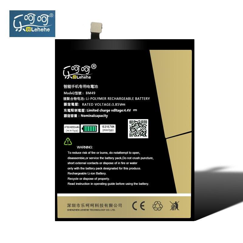 Original LEHEHE Battery BM49 For Xiaomi Mi Max High Capacity 4850mAh Li-Polymer Replacement Bateria Tools Gifts