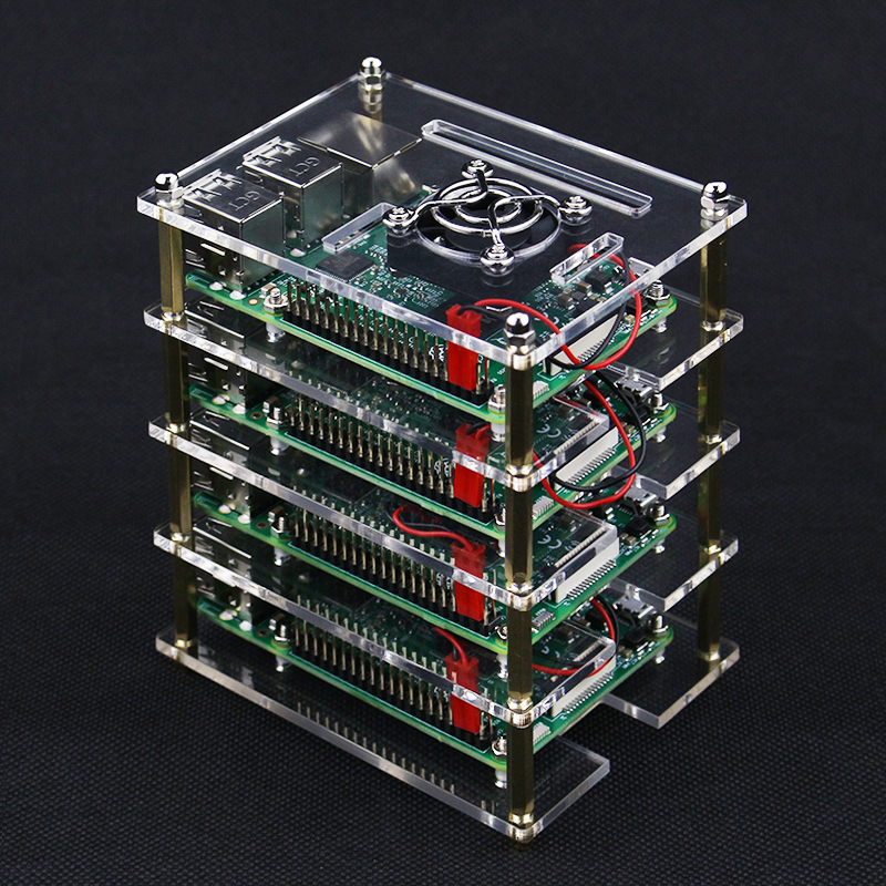 Image 5 - Superimposed 4 5 6 7 8 9 Layer Acrylic Case for Raspberry Pi 4 Model B Acrylic Holder Shell + Cooling Fan + Metal Cover for RPIDemo Board Accessories   -