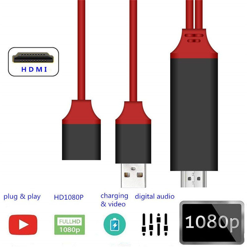 HDMI Cable USB Male and Female 1080P HDTV Digital AV Adapter HD Video Converter for iPhone