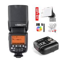 Godox V860II-N V860IIN GN60 je-TTL HSS 1/8000 s Speedlite Flash w/Li-ion Batterie + X1T-N Flash Émetteur (en option) pour Nikon