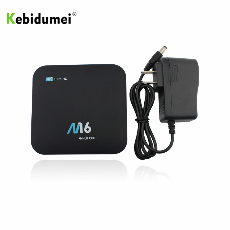 Kebidumei Hot Sale M16 Amlogic S905X Quad-core Android 7.1 UHD Smart TV Set-top Boxes 4K Media Player LAN & WiFi MINI PC TV Box