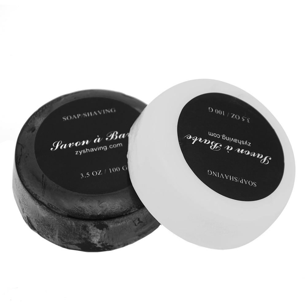 ZY 2 pcs Hommes Rasage Savon Bambou + Lait Moussant Mousse Rasoir Barber Salon Rasage Barbe Crème Savon Visage De Nettoyage outil