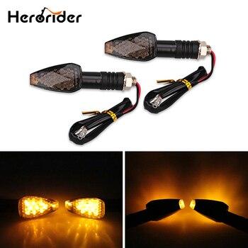 Herorider 2 unids/par Universal motocicleta indicadores Led de señal de giro 12 Led 12V ámbar luz intermitente Super brillante